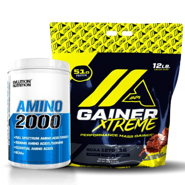 xtreme gainer api et amino 2000 protein tunisie